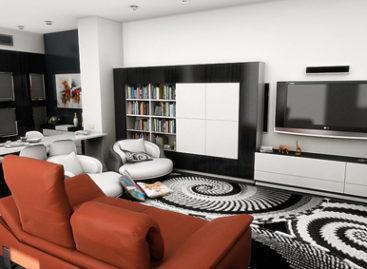 Kết hợp không gian phòng khách và bếp ăn