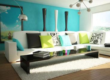 Sắc màu mới cho không gian phòng khách