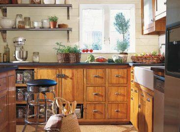 Thiết kế bếp và tủ bếp đẹp cho nhà vườn