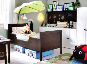 Phòng bé thêm xinh với mái che hình lá