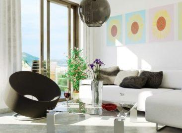Phòng khách với gam màu trắng ấn tượng