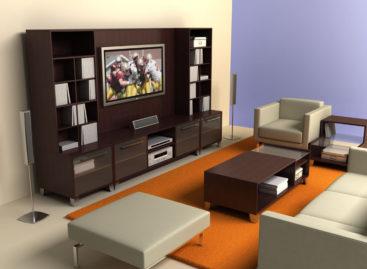 Phòng khách high-tech