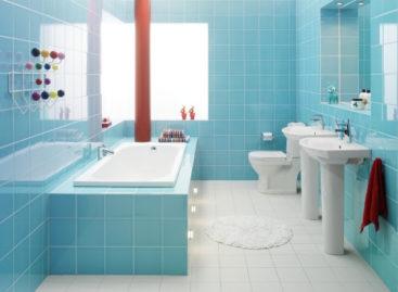 Sắc màu phòng tắm ấn tượng cho mùa hè