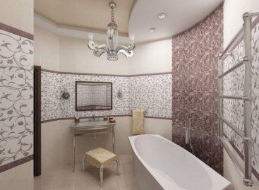 Trang trí phòng tắm với tông nâu sang trọng