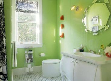 Phòng tắm sắc màu lung linh