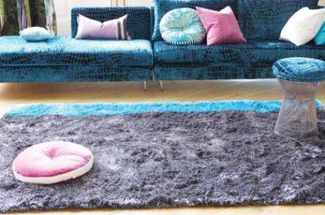 Phòng khách ấm áp nhờ thảm sàn