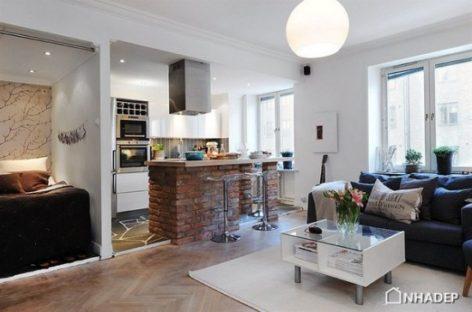 Thiết kế hoàn hảo cho căn hộ nhỏ ở Thụy Điển