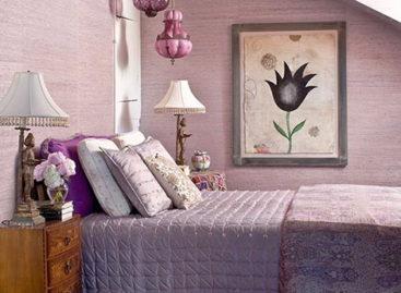 Phòng ngủ quyến rũ với sắc tím huyền ảo