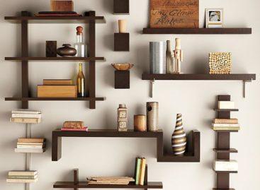 Kệ treo tường đơn giản và ấn tượng