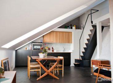 Nhỏ xinh với căn hộ tầng áp mái 57m2 ở Stockholm