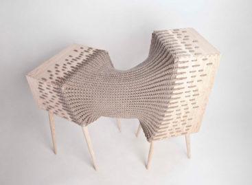 Nội thất kết hợp tinh tế giữa gỗ và chất liệu dệt may