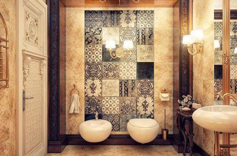 Phòng tắm lộng lẫy kết hợp giữa phong cách vintage và nét đẹp hiện đại