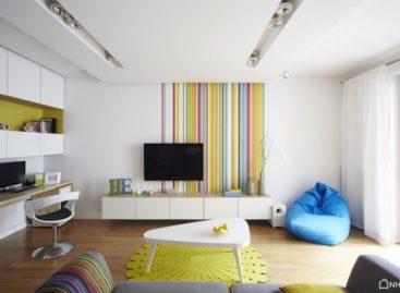 Sắc màu tươi sáng của căn hộ ở Warsaw