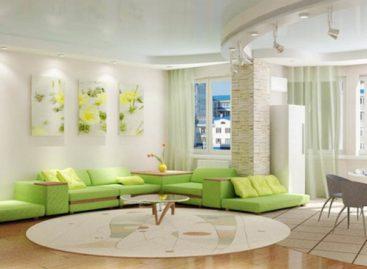 Ý tưởng kết hợp màu xanh cho phòng khách
