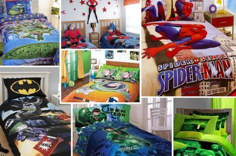 28 bộ drap trải giường hình siêu nhân cho bé trai