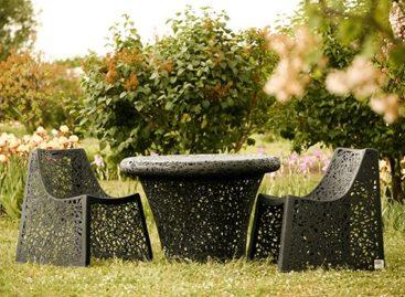 Độc đáo ngoại thất sân vườn làm từ sợi bazan
