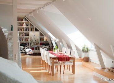 Thiết kế tầng áp mái quyến rũ của căn hộ tại Stockholm