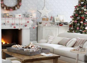 10 ý tưởng trang trí phòng khách mùa Giáng Sinh