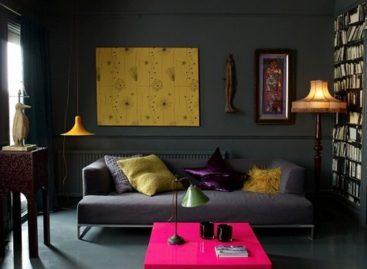 Thiết kế căn hộ với gam màu tối