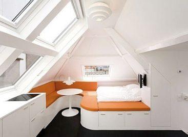 Ý tưởng thiết kế không gian tầng áp mái