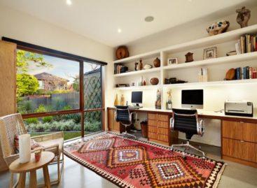 Những đường nét hiện đại và ấm cúng trong căn hộ Caufield Extension 1