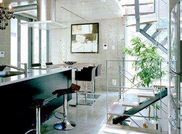 Không gian bếp hiện đại mang phong cách Nhật Bản