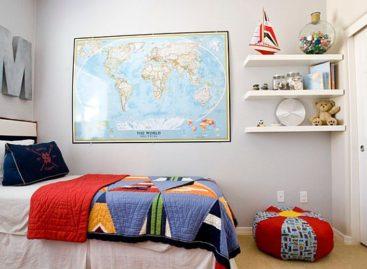 Những cách trang trí tường với tấm bản đồ cũ