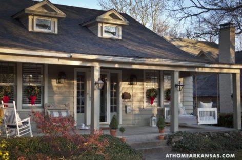 Trang trí Giáng sinh cho ngôi nhà vùng Arkansas theo phong cách cổ điển