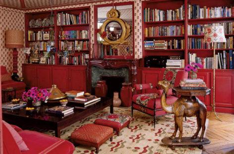 Những căn phòng đầy tính nghệ thuật với tông màu đỏ