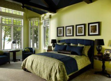 Mát mắt với thiết kế phòng ngủ màu xanh lá