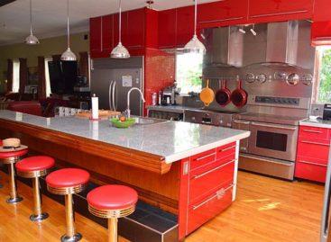 Sức quyến rũ của phòng bếp màu đỏ