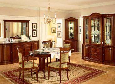 Thiết kế phòng khách và phòng ăn theo phong cách cổ điển sang trọng