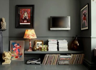 Ý tưởng thiết kế phòng khách với gam màu tối
