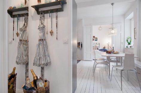 Khám phá căn hộ màu trắng ở Thụy Điển