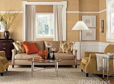 15 thiết kế phòng khách màu be