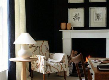 21 thiết kế phòng khách trắng đen truyền thống