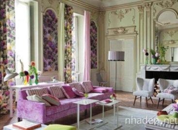 Chiêm ngưỡng 33 phòng khách tràn ngập màu sắc