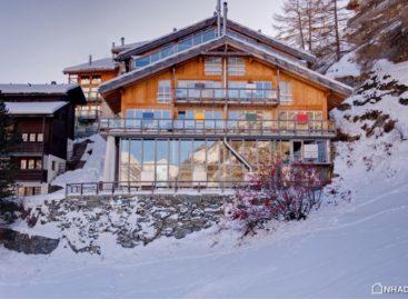 Ngôi nhà rộng rãi tiện nghi ở vùng núi tuyết Thụy Sĩ