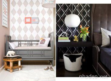 Thiết kế nội thất với họa tiết kim cương