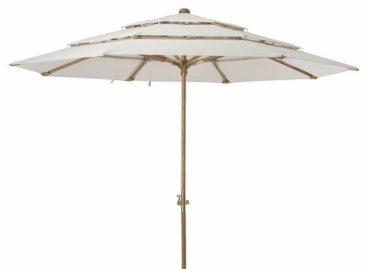 Dịu mát sân vườn cùng những chiếc dù đầy màu sắc