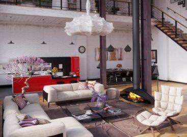 Căn hộ áp mái với nội thất ấn tượng
