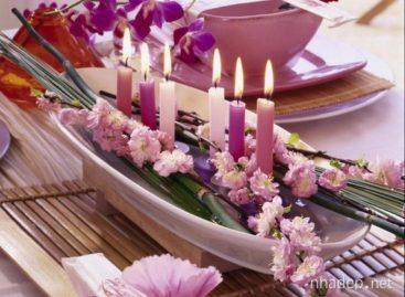 Mẹo thiết kế bàn ăn với hoa rực rỡ