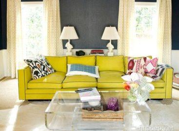 15 mẫu phòng khách trong gam màu vàng rực rỡ