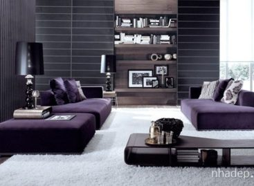 15 mẫu phòng khách trong tông màu tím đầy quyến rũ