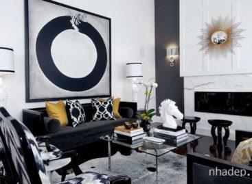 15 mẫu phòng khách đẹp với gam màu đen