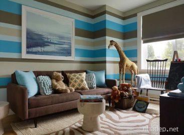 Trang trí nhà nổi bật với họa tiết sọc ngựa vằn
