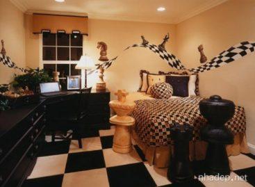 Trang trí nội thất lấy ý tưởng từ bàn cờ