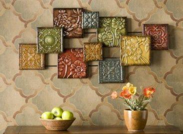 Trang trí tường nhà với họa tiết ô vuông