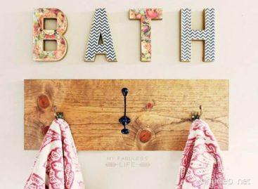 Trang trí phòng tắm với móc treo đầy ấn tượng