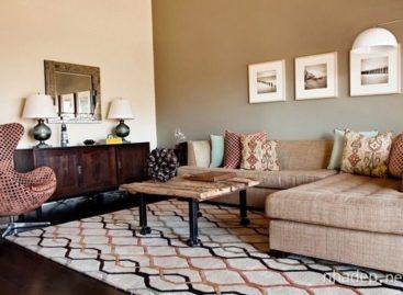 19 mẫu phòng khách đẹp trong tông màu nâu trầm của đất